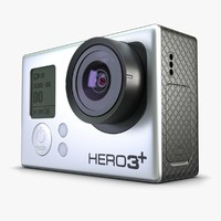 3d model of action camera gopro 3