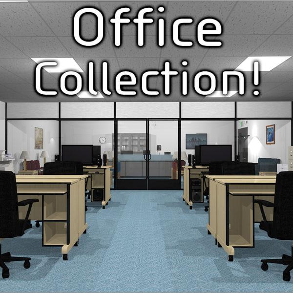 office computer monitors c4d