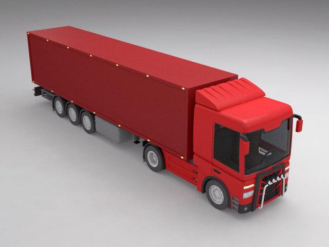 3d truck industrial semi