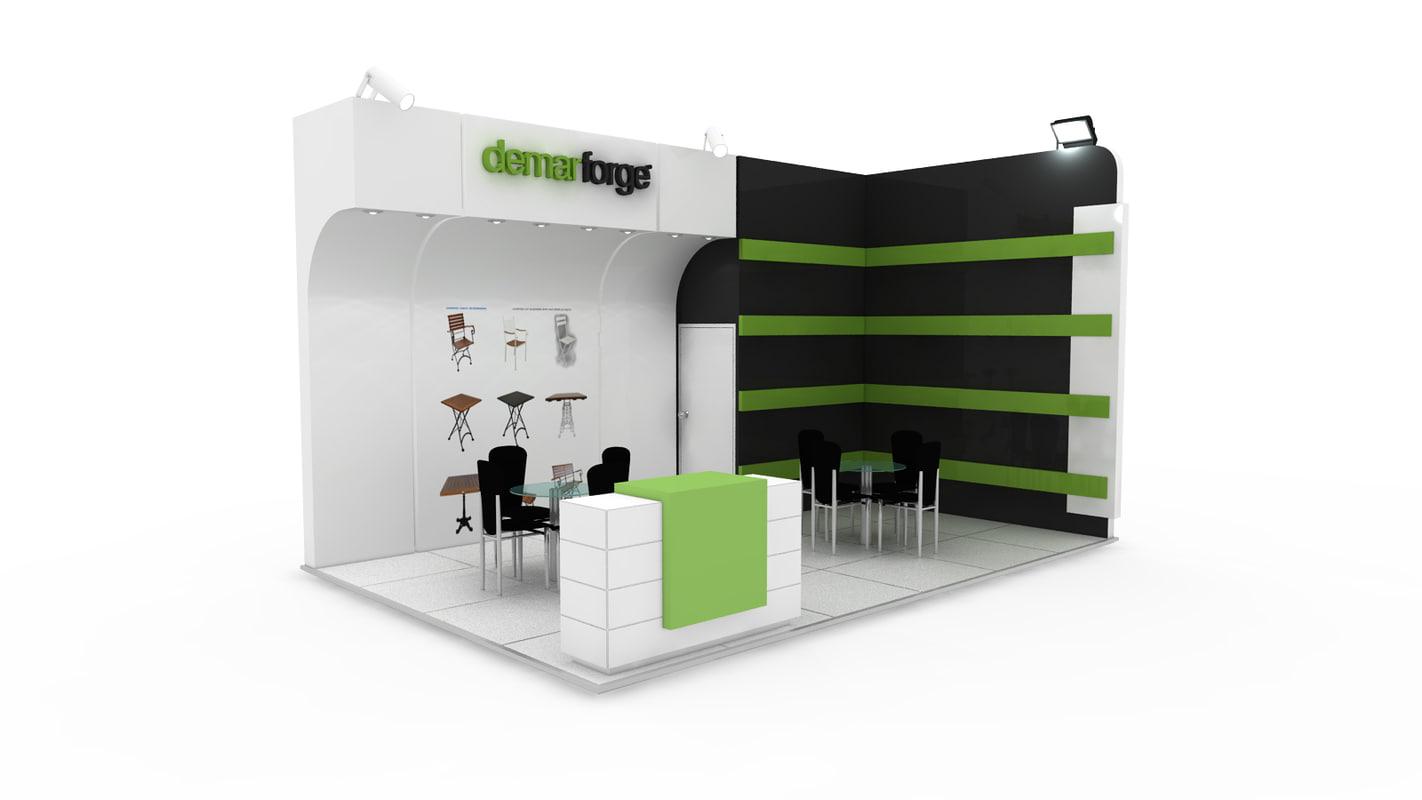 fair stand exhibition demar 3ds