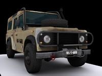 defender military 3d model