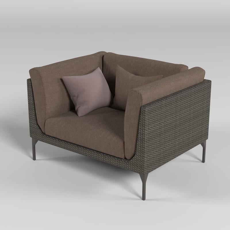dedon chair 3d model