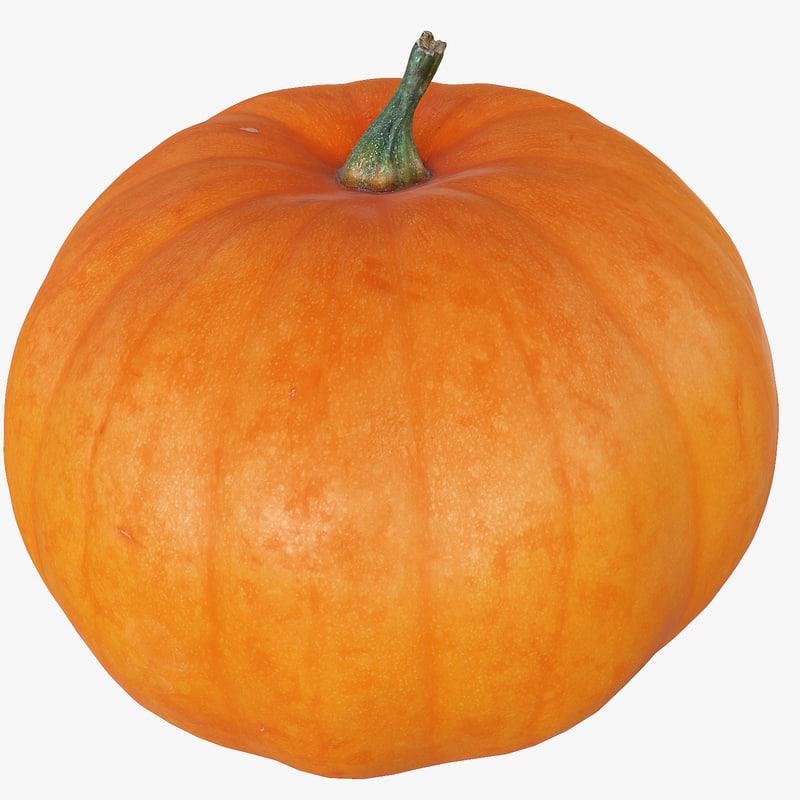 hd scaned pumpkin polys 3d model