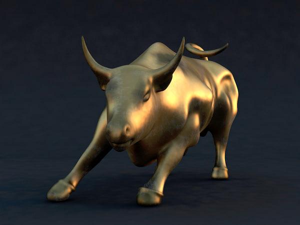 3d bull statue model