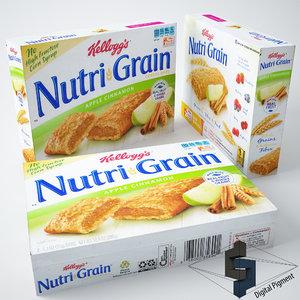 kellogs nutri grain apple 3d model