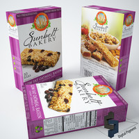 3d model sunbelt bakery granola oatmeal