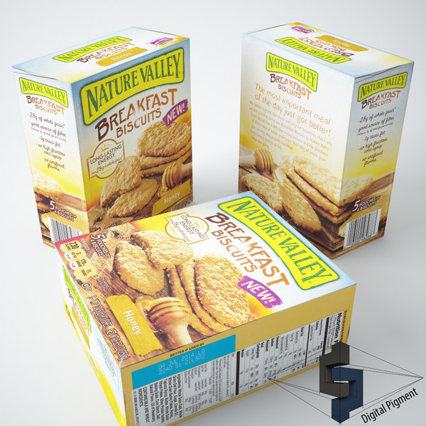 3d model nature valley biscuits