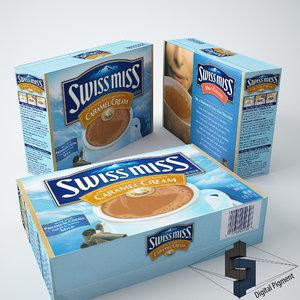 3d swiss miss caramel creme model