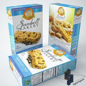 3d sunbelt bakery granola bars