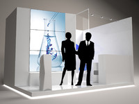 EXHIBITION STAND 4x3 + Vray Scene