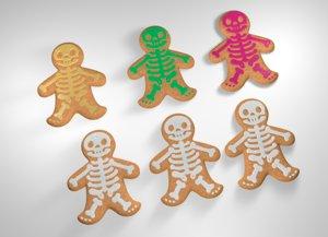 3d model gingerbread man halloween