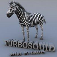 zebra body tongue 3d model