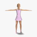 Ballet Dancer 3D models
