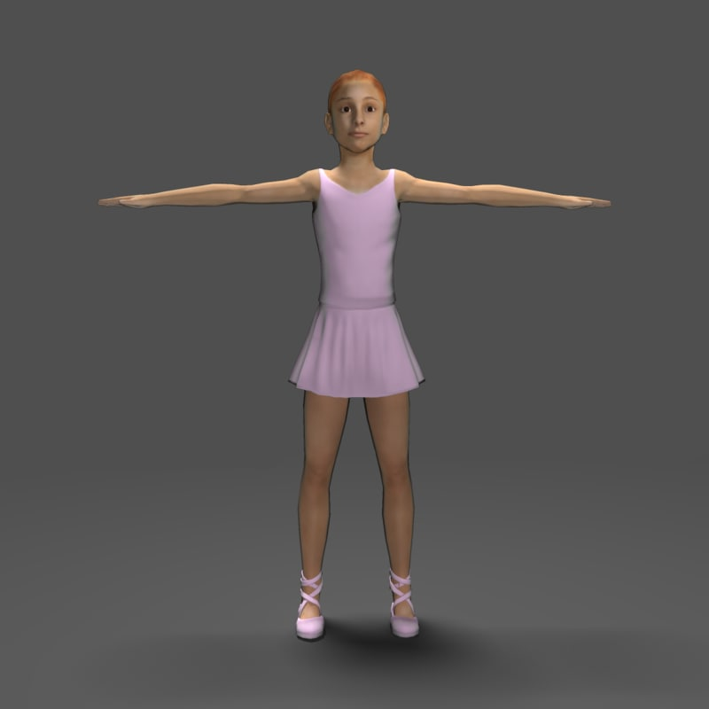 ballerina games 3d model