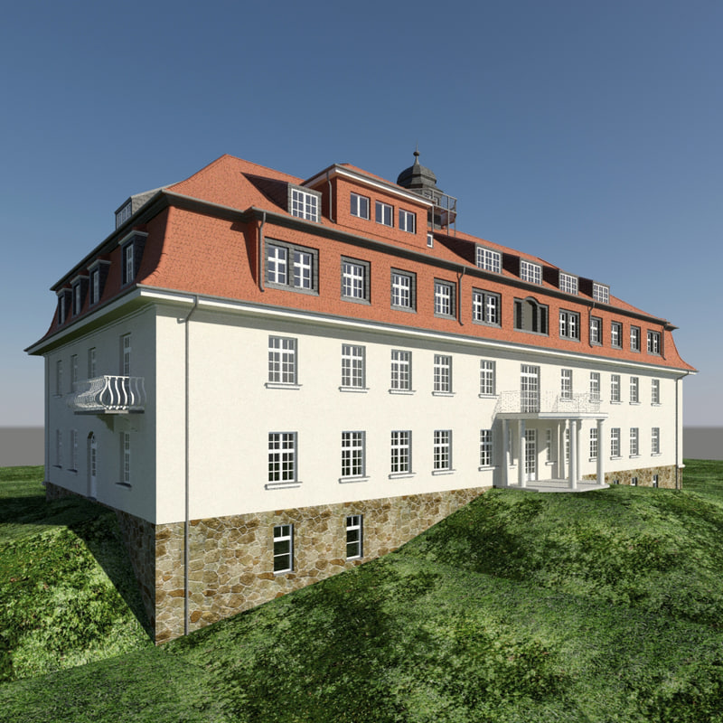 3ds max old building house