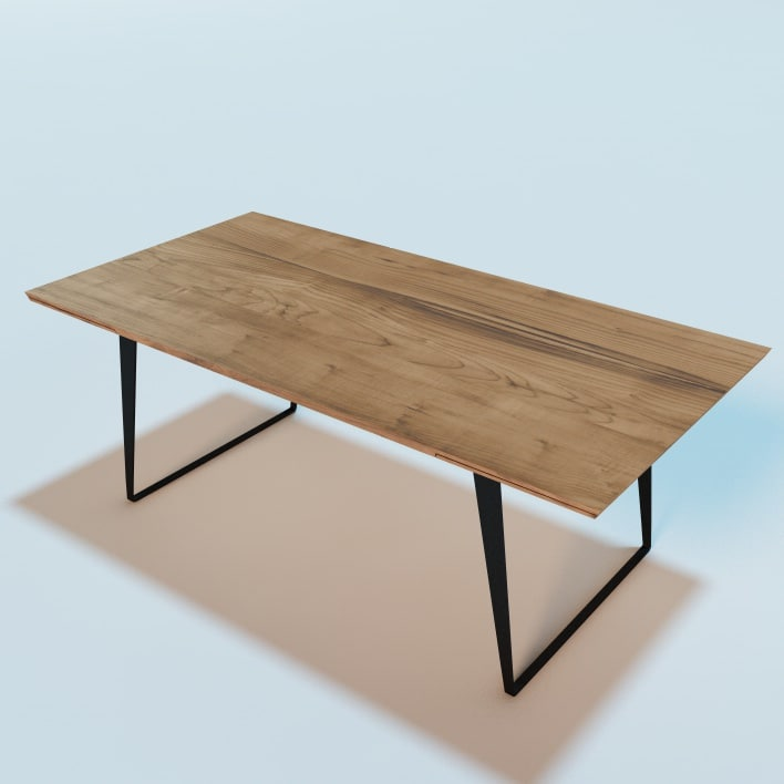 3d model echoes wooden dining table for New model wooden dining table
