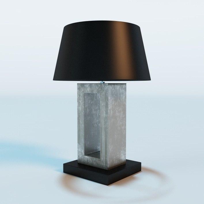 eichholtz table arlington lamp 3d model