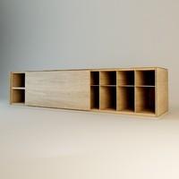zanotta speed storage wall design 3d model