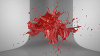 3d model splash realflow