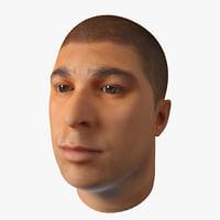 male head 20 3d model