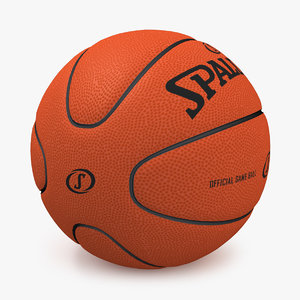 basketball spalding 2007 3d model