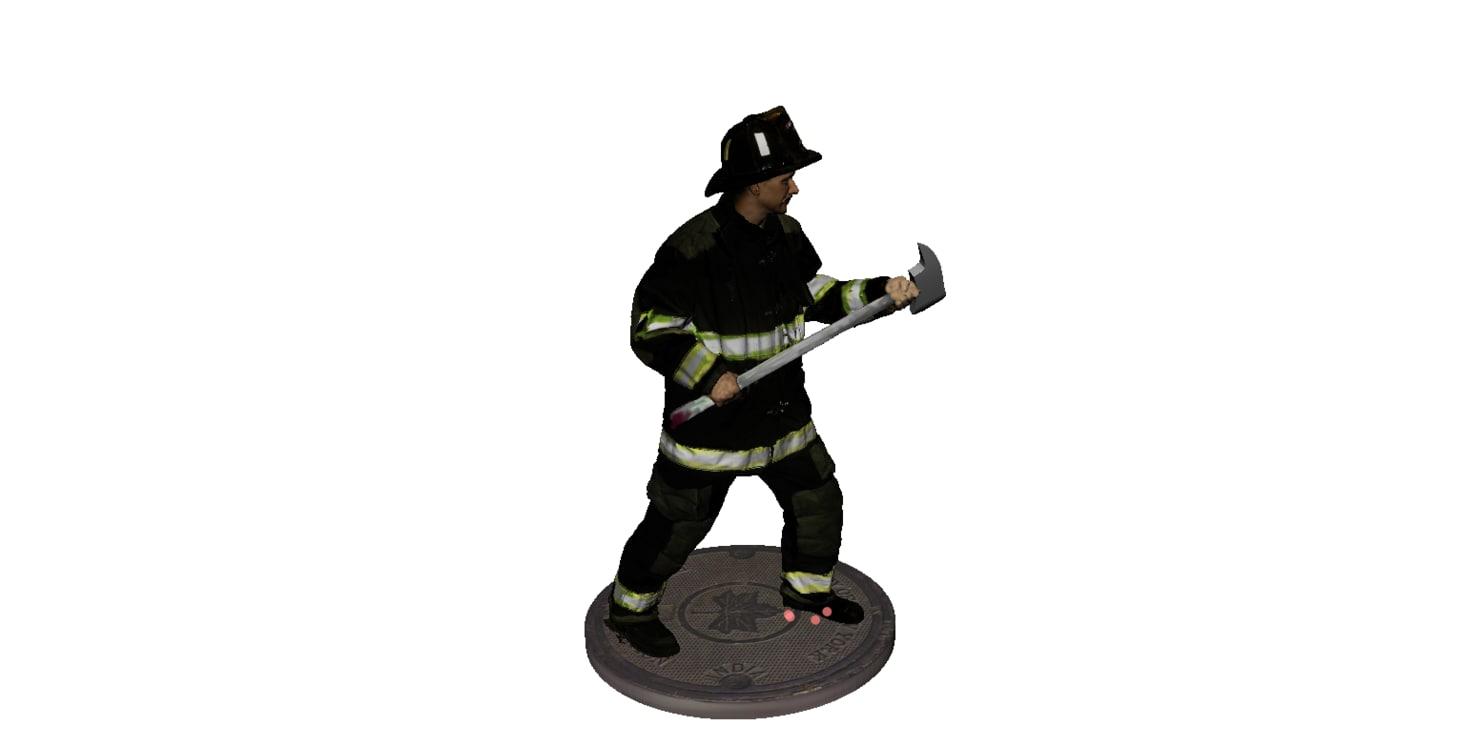 firefighter fireman 3d x