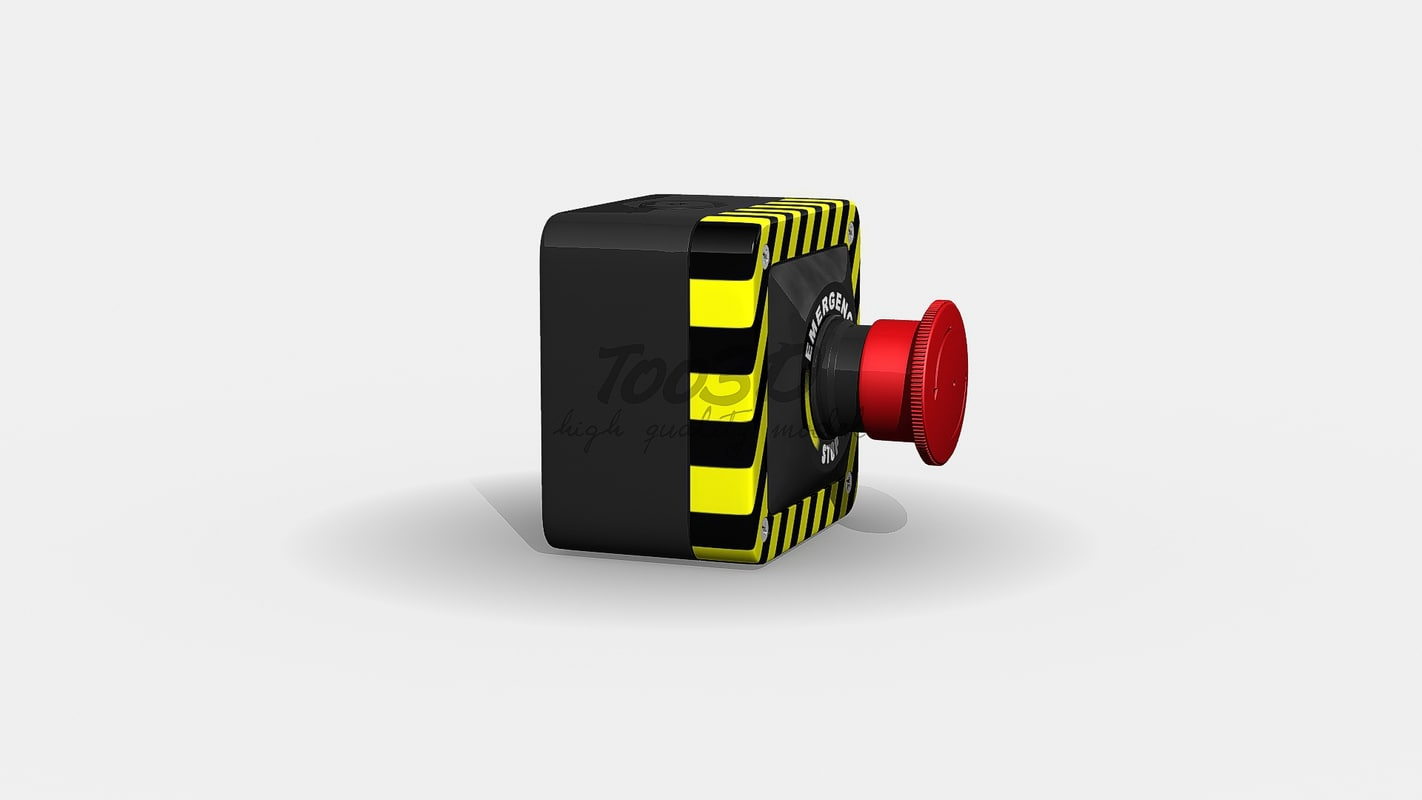 3d panic button model