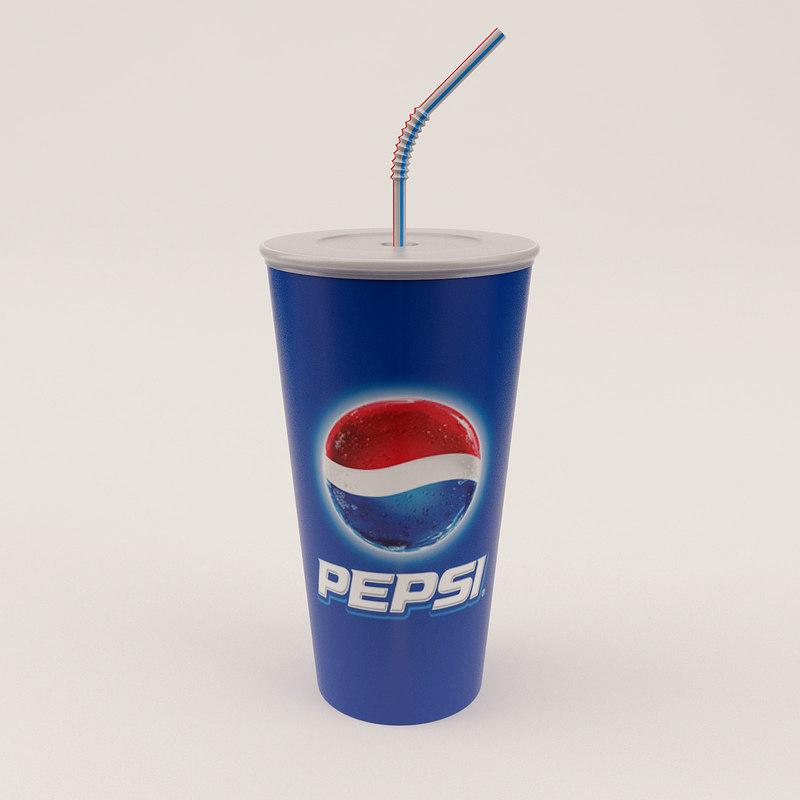 paper cup 3d obj
