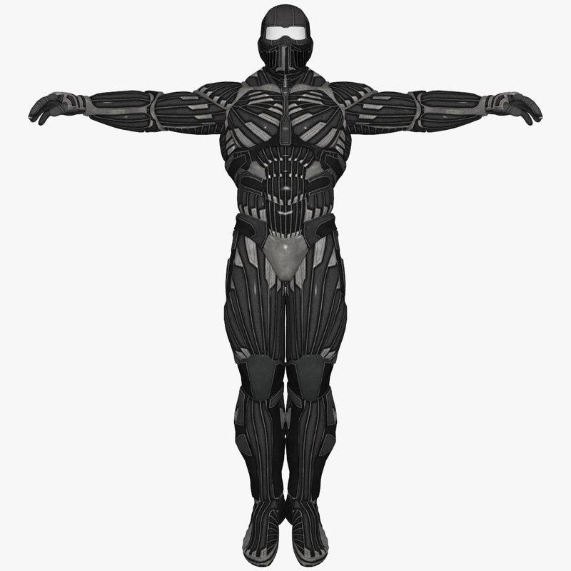 3d sci-fi suit male