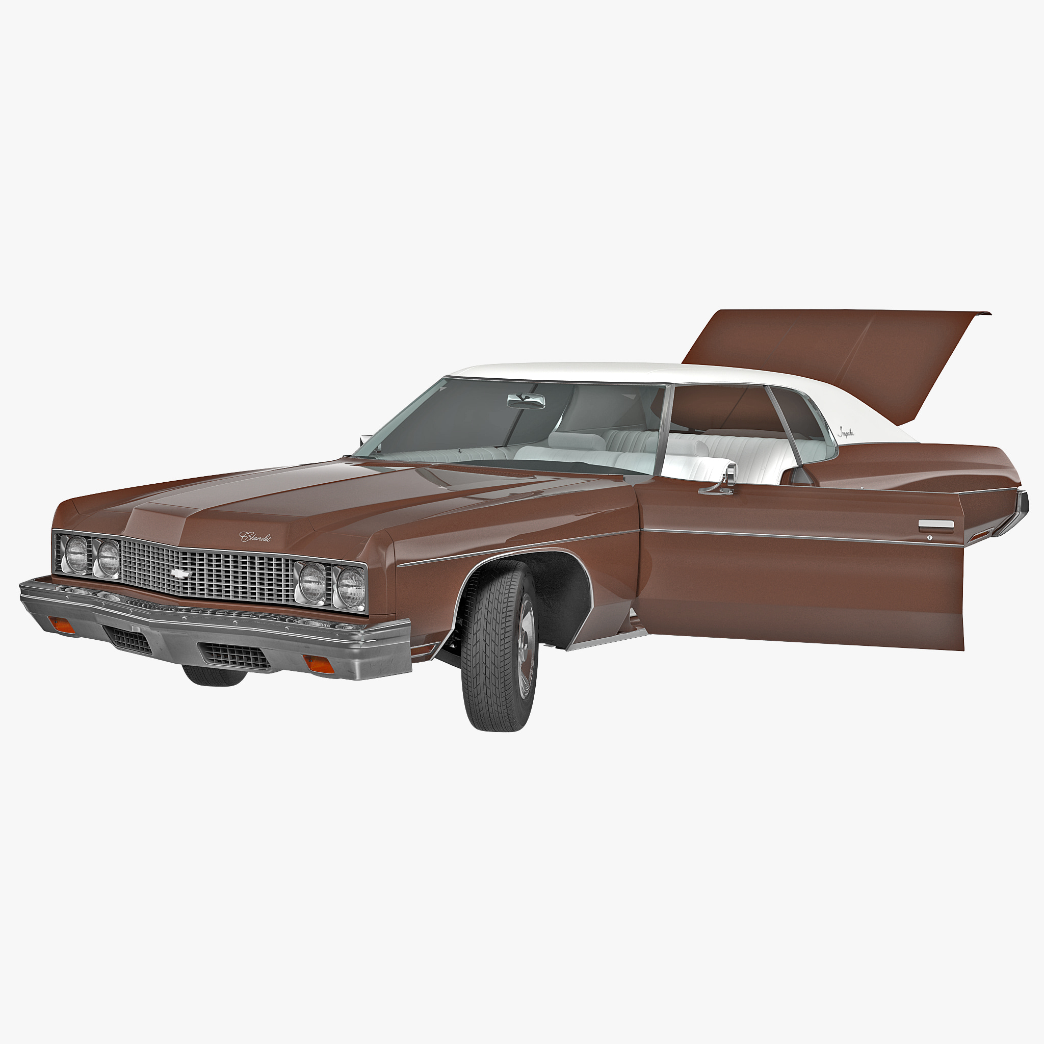 chevrolet impala rigged 3d model