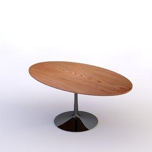 c4d tulip oval table wood
