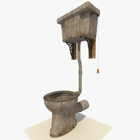 3d toilet renderer ready model