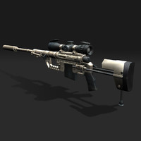 3d model sniper rifle cheytac intervention
