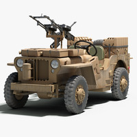 ww2 sas desert raider 3d model