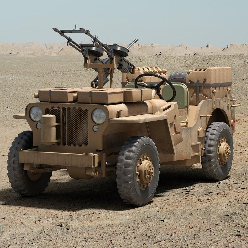 ww2 sas desert raider 3d model