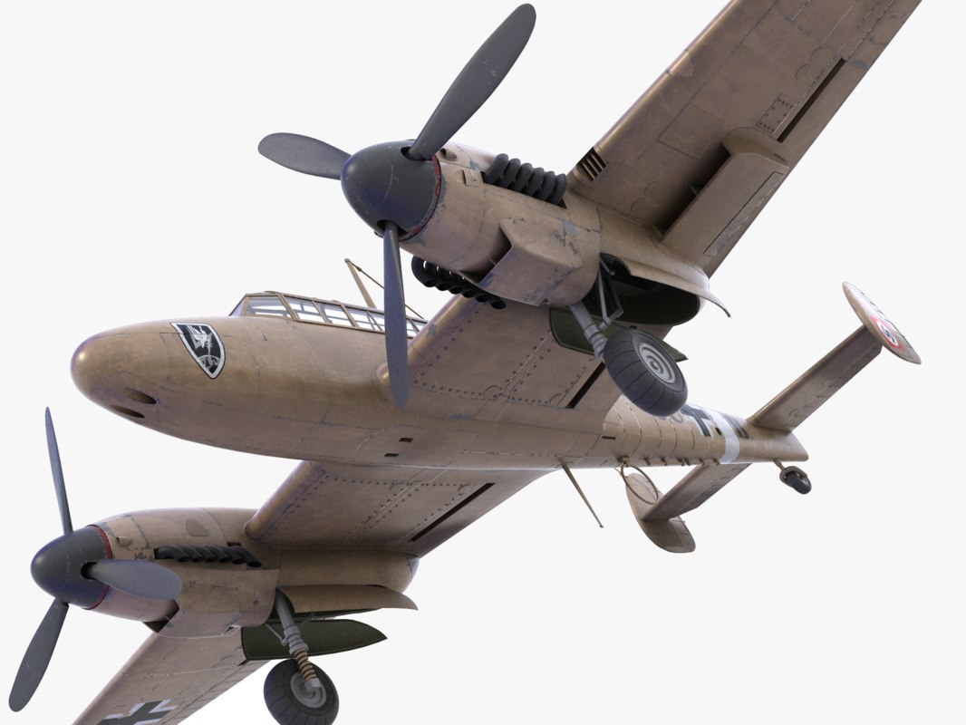 bf-110 german bomber 3ds