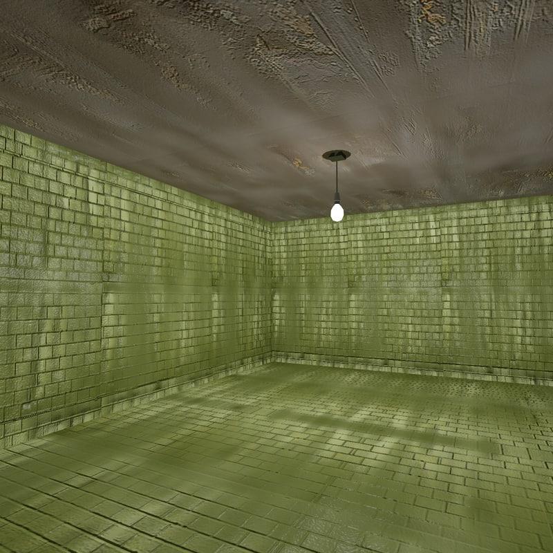 3d tiled room model