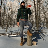 3d model rigged canadian lumberjack