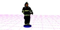firefighter fireman 3d fbx