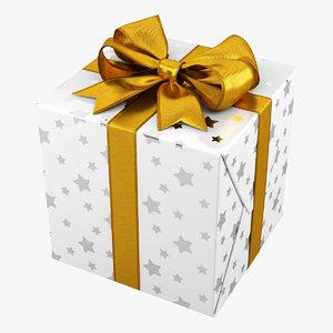 3d gift box white