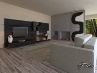 living room 3d fbx