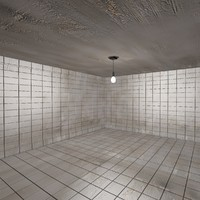 dirty tiled room 2 3d model
