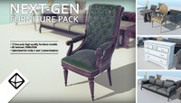 Low poly Next-gen furniture pack