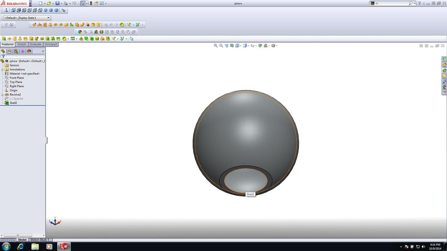 3ds shelled hollow ball