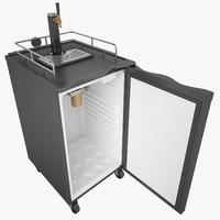3d max tap beer refrigerator