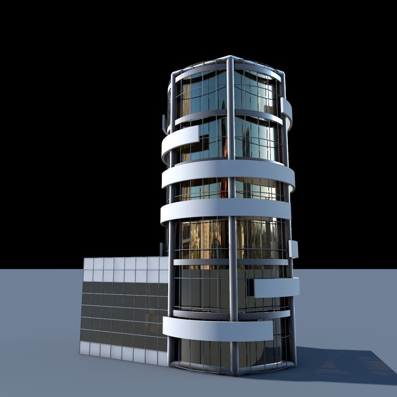 building flat skyscraper la 3d model