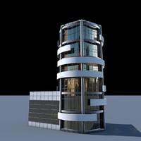 Round building flat skyscraper architecture