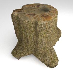tree stump 2 3d model
