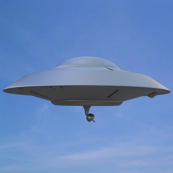 flying saucer earth vs 3d model