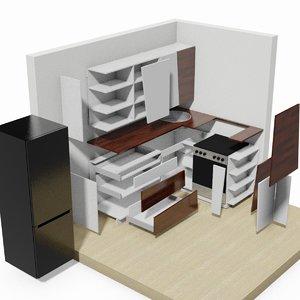 3ds max modern kitchen